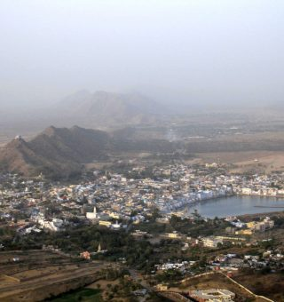 View of Pushkar and Sacred Lake from Brahma's Temple