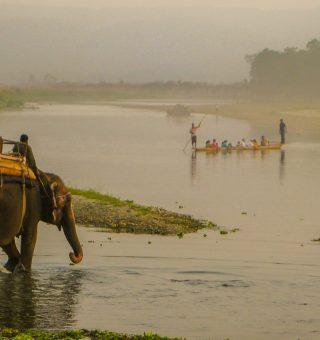 chitwan national park canoe