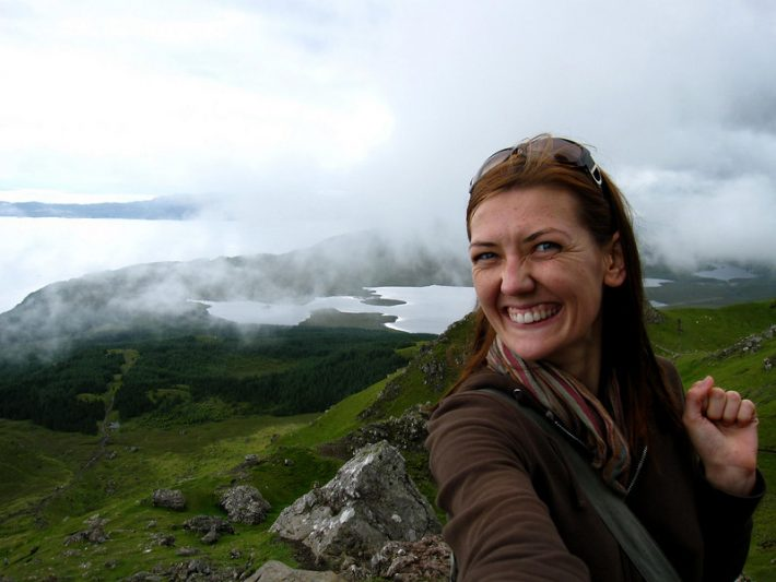 Hiking the Old Man of Storr in Scotland