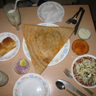 Traditional South Indian dosa