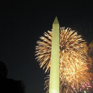 Fireworks Washington DC monument