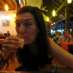 glass of milk in laos