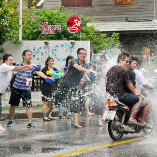 Songkran water fight in Thailand?