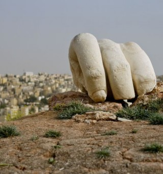 Hercules' Hand at the Citadel in Amman, Jordan