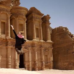 visiting petra jordan monastery