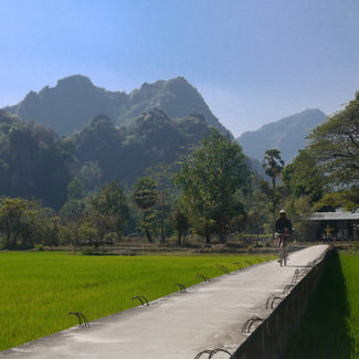 rice paddies and caves hpa-an burma