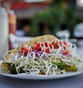 fresh beautiful taco
