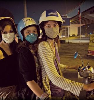 three on motorbike