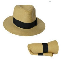 Foldable fedora for travelers