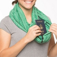Travel scarf with hidden pocket