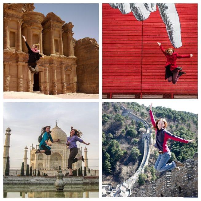 jumping shots around the world