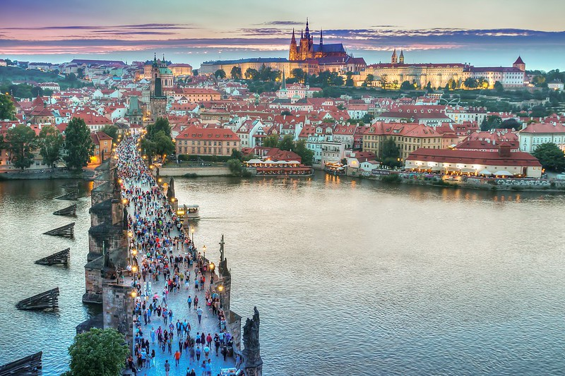 4c9e7a045646 sunset from up high in prague of charles bridge