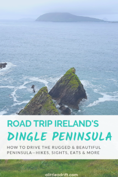 Discover Ireland's prettiest drive: Slea Head Drive on the Dingle Peninsula. Spend a day driving the scenic and ancient sights, stop in charming Irish towns, and take a pilgrimage hike.#Ireland #Europe #Dingle #TravelGuide #TravelTips #Bucketlist #Wanderlust