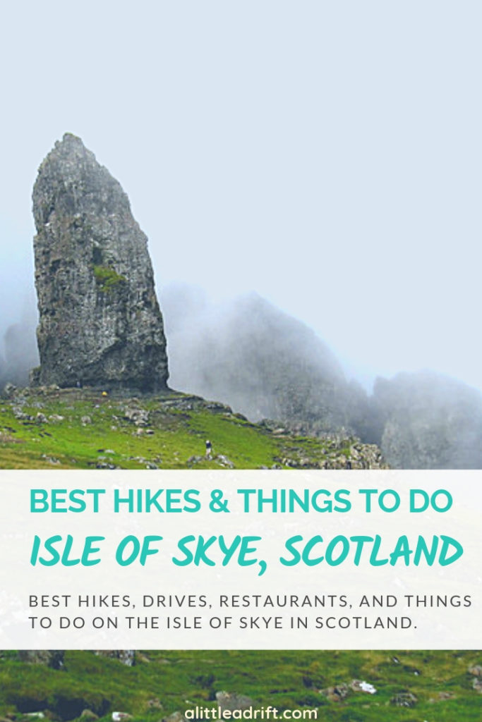 Things to do on #Scotland's Isle of Skye from Portree. Discover the best hikes and experiences on the Isle of Skye, as well as the hikes you can do in any weather, rain or shine! #bucketlist #wanderlust #traveltips #travelguide