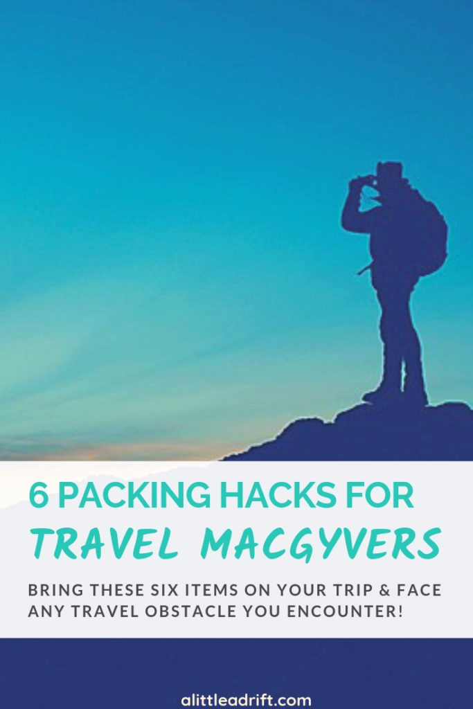 How to Be a Travel MacGyver: 6 Tiny Things Every Traveler Needs. Find out exactly what to pack for travel to be prepared for every possible travel situation! #traveltips